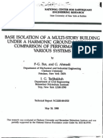 Base Isolation of a Multi-Story Building under a Harmonic Ground Motion - a Comparison of Performances of Various Systems