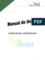 Manual i Generalidades Administracion