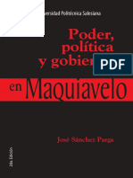 Poder Politica y Gobierno en Maquiavelo