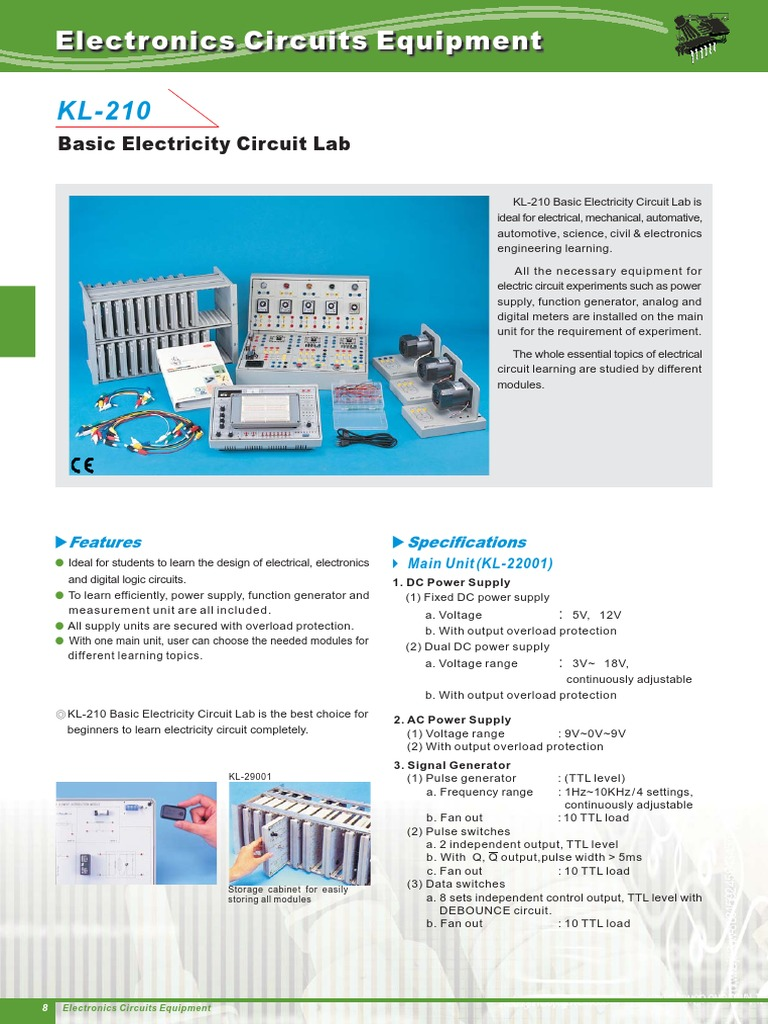 Kl 210 Power Supply Electronic Circuits And Learn About Digital Analog Circuit