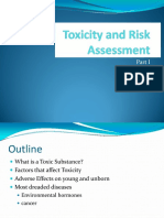 Toxicity and Risk Assessment