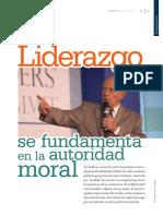 El Liderazgo Se Fundamenta en La Autoridad Moral - Stephen Covey