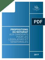 Les propositions du notariat aux futurs parlementaires