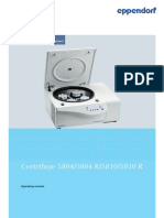 Operating Manual Centrifuge 58XX Family