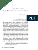 DOSSIER Épistémologie de La Recherche Qualitative 4 Numéros