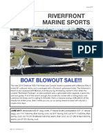Riverfront Marine Sports Newsletter, June 2017
