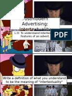 L14 Postmodern Adverts Intertextuality - Prezi
