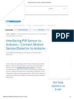 Interface PIR Sensor to Arduino - Motion Sensor_Detector