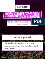 WPostmodernism Exam Revision