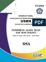 1. Lembar Soal Usbn Pai Sma 2017 k13 - Utama