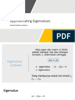 Approximating Eigenvalues