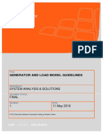Generator and Load Model Guidelines 20160511