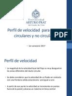 Perfil de Velocidad y Radio Hidraulico
