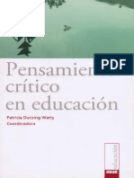Pensamiento Critico en Educacion