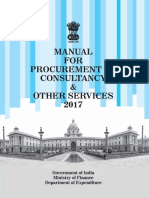 Manual for Procurement of Consultancy and Other Services 2017