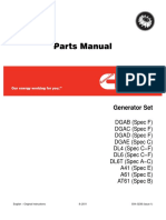 Onan Dgab Dgac Dgad Dgae Dl4 Dl6 Dl6t a41 a61 a61t Diesel Genset Parts Manual (08-2011)