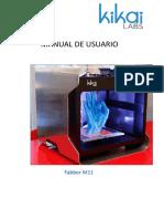 Kikai Labs Manual de Usuario Fabber M11