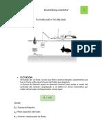 Ejercicios de Flotabilidad y Estabilidad