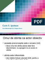 _Curs 5 Metodologie - Ipoteze (2015!12!02)