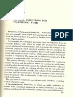 General Directions of Volumetric Methods