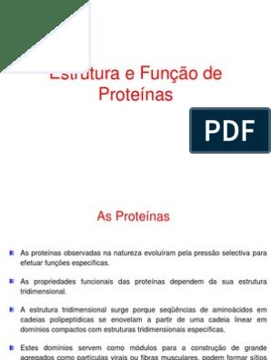 Biofísica Proteinas Aulaiii Aminoácido Proteínas