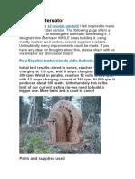 Wooden Alternator