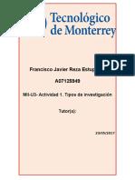 MII U3 Actividad 1 Tipos de Investigacion