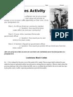 black codes activity