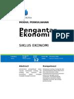 Modul 11 Pengantar Ekonomi Paulus Rambe Siklus Ekonomi.doc