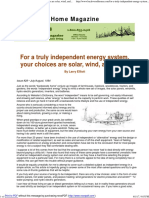 For a Truly Independent Energy System, Your Choices Are Solar, Wind, And Water _ Backwoods Home Magazine