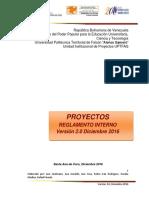 Reglamento de Proyecto- Dic 2016