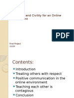 Netiquette and Civility for an Online Environment