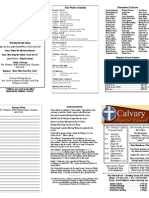 Calvary Bowling Green 7-25-2010 Bulletin