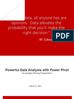 Powerful Data Analysis with Power Pivot