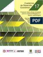 Diseño Metodológico. PIB Trimestral de Bogotá