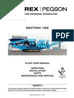 1300 Maxtrak Manual Parts