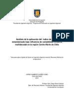 Análisis de la aplicación del  índice de caudal estandarizado bajo influencia de variabilidad climática multidecadal en la región Centro-Norte de Chile