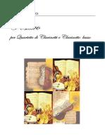 D'Amico -Positivo Partitura Per Quartetto Di Clarinetti E Clarinetto Basso
