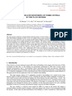 Structural Health Monitoring of Torre Central by the Wave Method