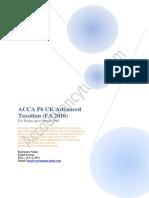 ACCA P6 UK Notes FA 2016 AccountancyTube.com