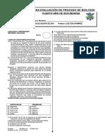 1°EVALUACIÓN DE PROCESO DE BIOLOGÍA III BIM 4° SEC 2014 OK