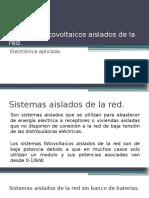 sistemas fotovoltaicos aislados