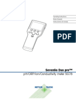 Mettler Toledo PH & Conductivity Meter SevenGo Duo Pro SG78 Manual