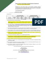 Important Instructions for I Sem 2016-17-BTECH