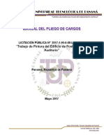 Manual Pliego de Cargos Pintura Del Edificio de Postgrado