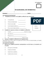 Evaluacion Quincenal de Gramatica Mayo