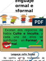 Ppt. Apoyo Clase de Lenguaje. Lenguaje Formal e Informal