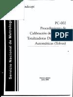 PC-002 Procedimiento de Calibracion de (Tolvas)
