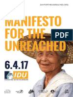 Manifesto for the Unreached
