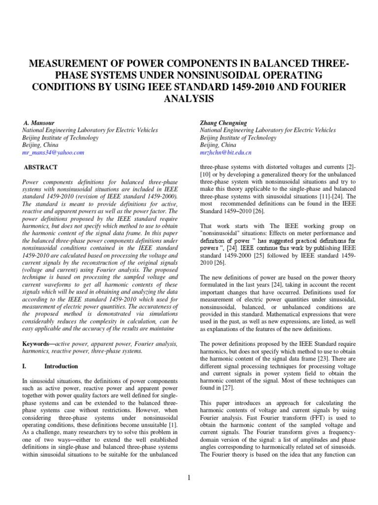IEEE POWER - MEASUREMENT OF POWER COMPONENTS   Discrete